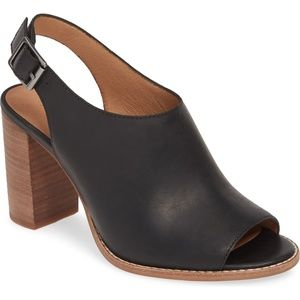 NEW Madewell Cary Sandals Shoes Chunky Heel Black